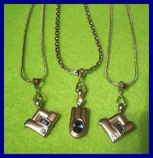 3 x edle Halsketten mit Strassanhänger versch. Designs NEU     ( D104)