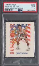 PSA 9 John Stockton 1991-92 SKYBOX MARK & SEE MINIS DREAM TEAM USA JAZZ MINT