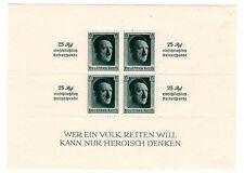 Bloc de 4 timbres allemand reich A. Hitler  25 Rpf. einschlieBlich gomme** LUXE