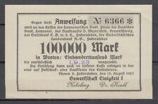 Ehmen bei Fallersleben  -  Gewerkschaft Einigkeit I  -  100 Tausend Mark