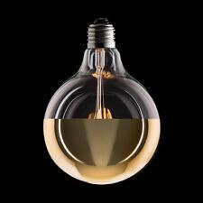 VintageRetro Eco LED Carbon Filament G125 Gold Mirror Dipped Globe Lamplightbulb