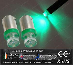 LED 233 T4W BA9S Green Car Side Light Parking Bulbs Interior Reading Lamps 12v