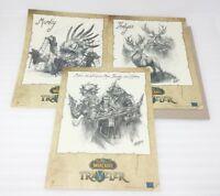 Blizzcon 2016 Exclusive World of Warcraft Traveler Aram 3 Sketch Prints