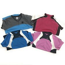 Lot Of Four (4) Cannondale Cycling Jerseys Womens Size XL Short Sleeve 1/4 Zip