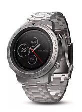 Garmin fenix Chronos Steel GPS Watch with Brushed Stainless Steel Band & Bonus