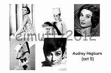 AUDREY HEPBURN - SET OF 5 LARGE PHOTO PRINTS # 5