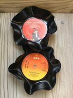 2 Up cycle Vintage Single Record Fruit Bowls , Adam Ant