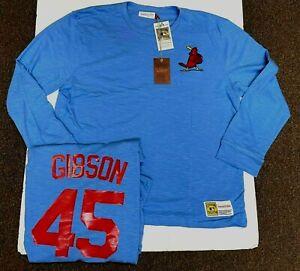 BOB GIBSON ST LOUIS CARDINALS Mitchell & Ness LONG SLEEVE SHIRT Jersey