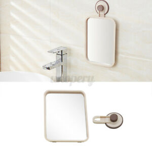 Bathroom Suction Wall Mirror Fog Shower Shave Make-up Shatterproof