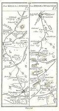 Antica mappa, le strade da Kells a mullingar.., Dundalk a (i) carrickmacross..
