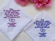 Wedding Gift Handkerchiefs For Mother Of The Bride And Father Of The Bride/1165