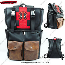 Deadpool Backpack SchoolBag Marvel Faux Leather Quality Laptop Bag Bookbag Gift