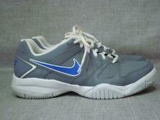 sports shoes 07d32 aebb1 NIKE UK 5 CITY COURT GREY AND BLUE TENNIS TRAINERS