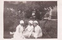 Nurses holding flower photograph vintage black & white early 20th century #6