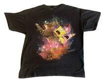 Men's Size XL Nickelodeon Spongebob & Patrick Galaxy Kitty Cat Tee Shirt