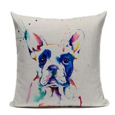 Boston Terrier B11 Painting Artistic Cushion Pillow Cover Pet French Bulldog