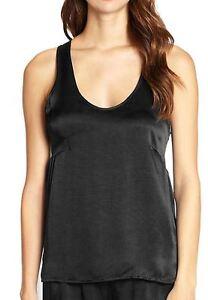 La Perla Studio Dolce L Luxurious Silk Camisole Top Black Large Scoop Neck