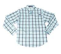Columbia Mens Shirt Blue Size 2XL Plaid Super Tamiami Button Down $64 172