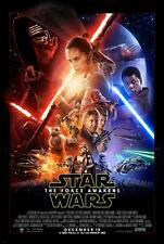 "STAR WARS THE FORCE AWAKENS 18""x24"" Original Promo Movie Poster Half-Sheet 2015"
