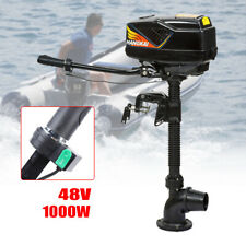 4HP 48V 1000W 4.0 JET PUMP Brushless Outboard Motor Boat Engine Tiller control