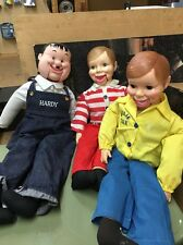 ventriloquist dummy lot - Hardy and two willie talk dolls.