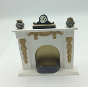 Dolls House Fireplace With Ornaments