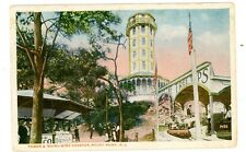 Rocky Point RI - TOWER & WHIRL WIND ROLLERCOASTER - Postcard Amusement Park