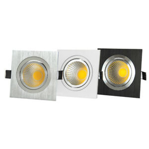 Dimmable/N LED COB Grille Lamp Recessed Ceiling Light Cabinet Super Market Store