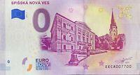 BILLET 0  EURO  SPISSKA NOVA VES SLOVAQUIE   2019  NUMERO 7700