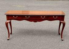 Ethan Allen Georgian Court Solid Cherry Console Entry Sofa Table