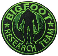 Bigfoot Research Embroidered Patch Iron/Sew-On Applique X-Files Cryptid Mystery