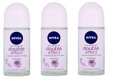 3 x Nivea DOUBLE EFFECT VIOLET Deodorant Anti-Perspirant for Women 1.7oz / Each