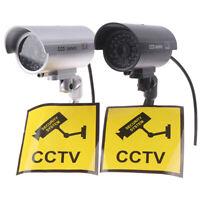 Fake Dummy Camera Bullet Waterproof Outdoor Indoor Security CCTV Surveillanc uW