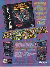 Original TOKYO HIGHWAY BATTLE PlayStation PS1 racing video game print ad page