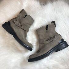 Rag & Bone Ashford Light Brown Suede Leather Moto Ankle Boots US 5 EU 35