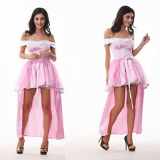 beautiful adult Princess Peach Costume women cosplay halloween pink fancy dress