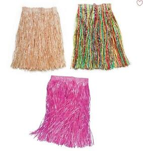 Grass Skirts Womens 55cm Hawaiian Fancy Dress Accessories