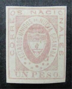 nystamps Colombia Stamp # 18 Mint OG H $1255 F26y362
