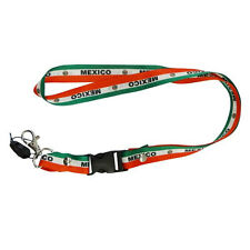 MEXICO COUNTRY FLAG 3 STRIPES LANYARD KEYCHAIN PASSHOLDER ..NEW
