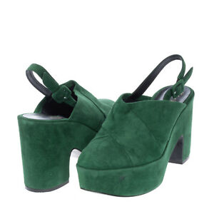 RRP€545 ROBERT CLERGERIE Leather Slingback Mule Shoes Size 40 EU39.5 UK6.5 US9.5