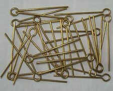 "20x British:""BRASS COTTER PINS"" (37mm/1.5 inch Shank, For Army and RAF Badges)"