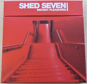 """SHED SEVEN INSTANT PLEASURES LIMITED EDITION 7 X COLOURED 7"""" SINGLE BOX SET BNIB"""