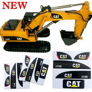1/14 CAT 320D Sticker Set for Huina 550 15 Channel RC Excavator Amewi Decals Kit