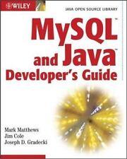 MySql and Java Developer's Guide: By Matthews, Mark, Cole, Jim, Gradecki, Jos.