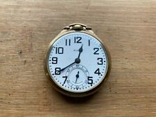 Grade Pocket Watch, Gold Filled Case Elgin B.W. Raymond 16s 21 Jewel Railroad