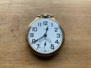 Elgin B.W. Raymond 16s 21 Jewel  Railroad Grade Pocket Watch, Gold Filled Case