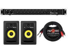 BEHRIGNER UMC1820 + KRK RP6G3 Studio Monitor Pair + Cables