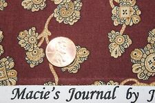 """""""CIVIL WAR MACIE'S JOURNAL"""" REPRODUCTION QUILT FABRIC BTY MARCUS 2357-0129"""