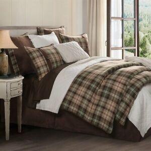 Huntsman Plaid Country Western Farmhouse Cottage Queen 4-Piece Bed Set