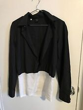 Jean Paul Gaultier Homme Made in Italy black white Cotton SZ 16 41 rare vintage